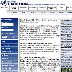 Chasing Tradition web site