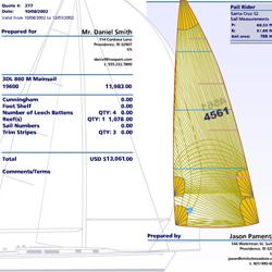 North Sails Quick Quote system